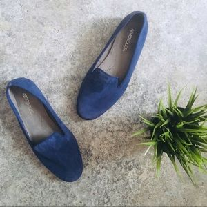 Aerosoles Royal Blue Betunia Sued Loafers